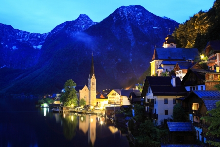 Hallstatt, the most beautiful lake town in the world, Austria Stock Photo - 20424050