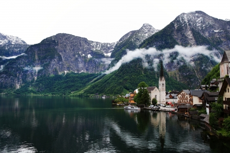 Hallstatt, the most beautiful lake town in the world, Austria  photo