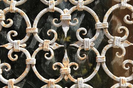 rejas de hierro: patr?n de acero