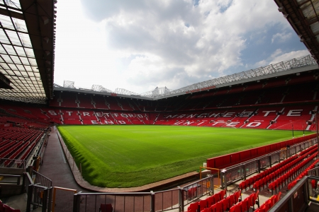 Old trafford stadium-July 28 Old trafford on July 28, 2008 is a football stadium in Old Trafford, Greater Manchester, England, and the home of Manchester United Editorial