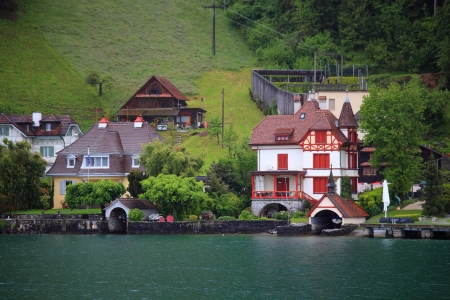 View of town  Lucerne  Switzerland photo
