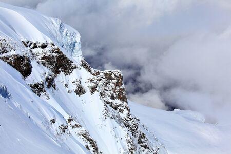 Alpine Alps mountain landscape at Jungfraujoch, Top of Europe Switzerland Stock Photo - 22175696