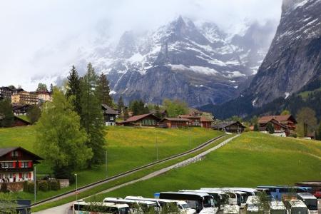 View of town  side way to jungfraujoch Switzerland photo