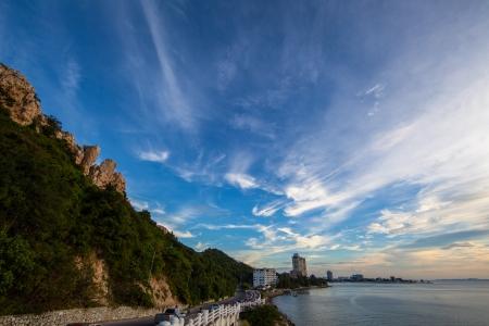 Sunset at Sam muk, bangsan chonburi photo