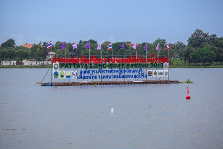 watersport: Chonburi-Nov 24   The annual and locally very popular Pattaya Long Boat Races on November 24,2013 at Lake Mabpratchan of Pattaya City, Chonburi Thailand