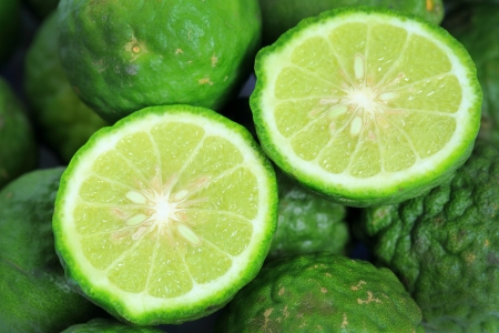 Kaffir Lime is a fruit native to Indochinese