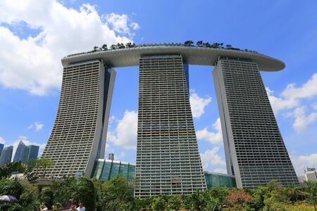 SINGAPORE - JAN 31: Marina Bay Sands, Worlds most expensive standalone casino property in Singapore on Jan 31, 2014 Editorial