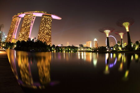 SINGAPORE - JAN 31: Marina Bay Sands, Worlds most expensive standalone casino property in Singapore on Jan 31, 2014