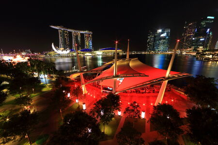 SINGAPORE - FEB 01: Marina Bay Sands, Worlds most expensive standalone casino property in Singapore at S$8 billion on February 01, 2014