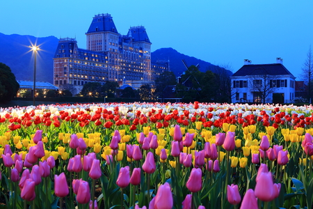 Japan - Mar 19  Huis Ten Bosch is a theme park in Sasebo, Nagasaki, Japan on Mar 19, 2014