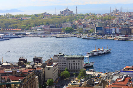 eminonu: Top View Crowded city of istanbul
