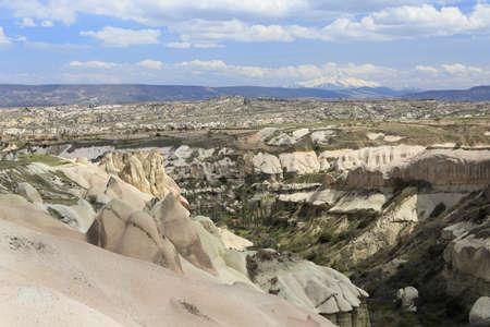 goreme town, cappadocia in Turkey photo