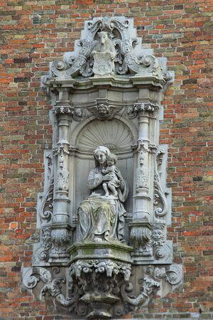 belfort: Belfort, a medieval belfry tower in Bruges, Belgium Stock Photo