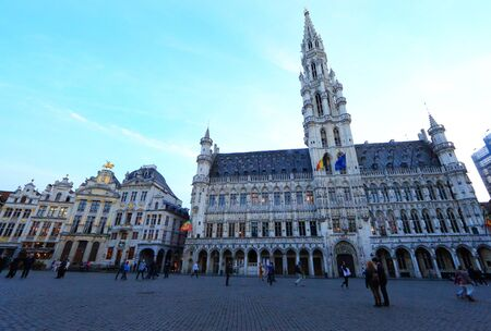 The Grand Place in Brussels, Belgium Editorial