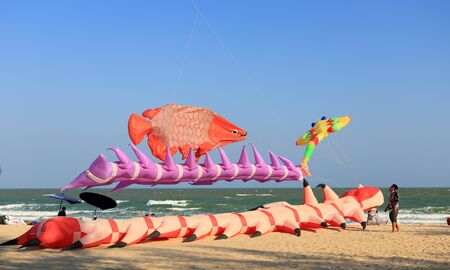Phetchaburi, Thailand.- Mar 11: Thailand International Kite Festival at the Cha-am Beach on Mar 11, 2017 in Phetchaburi, Thailand.