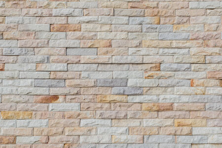 stacked stones: Modern Stone Wall With Several Colors
