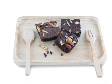 brownies: Brownies On Wood Tray