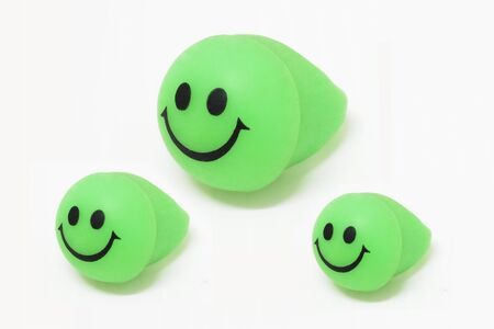 green face: Green-Smile Face