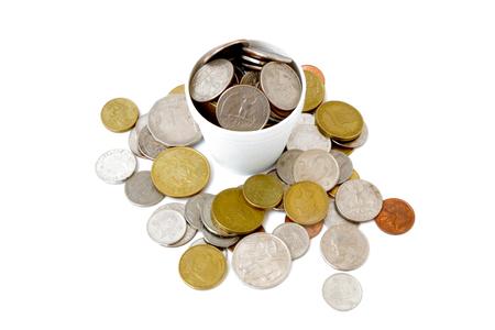 flowerpot: coins in flowerpot