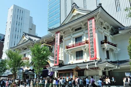 日本 tradiional 劇場歌舞伎座