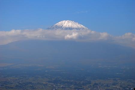 Mount Fuji higher than clouds 版權商用圖片