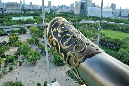 desired: A town in Osaka is desired from Osaka Castle