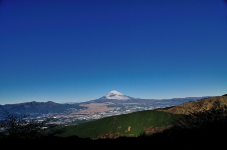 The distant view of Mount Fuji photo