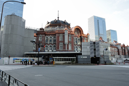 Tokyo Station under restoration construction Editorial