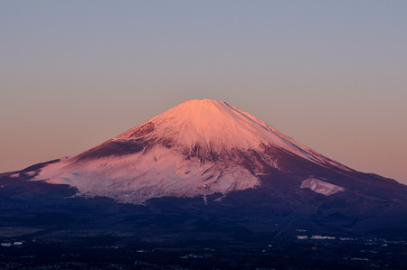 Mount Fuji of the morning of winter  photo
