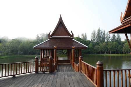 thai style: Wood home of thai style