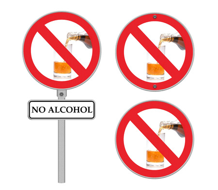 not permitted: No alcohol sign Stock Photo