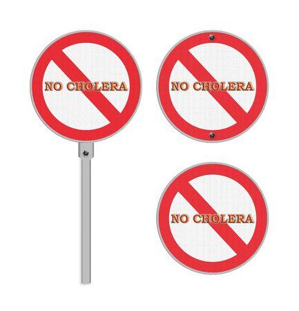 chol�ra: No Cholera sign - isolated Banque d'images