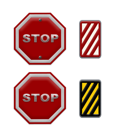 drivers: traffic sign stop, Part of a series. Stock Photo