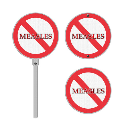 No Measles sign - isolated photo