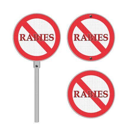 rabies: No Rabies sign - isolated