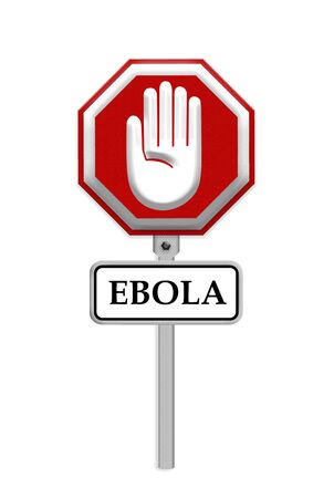 ebola: stop ebola sign - isolated