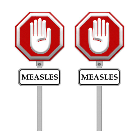 measles: Stop Measles sign - isolated