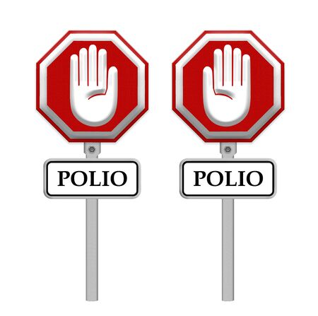 polio: stop Polio sign - isolated