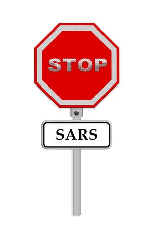 sars: Stop SARS sign - isolated