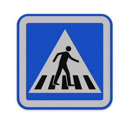 paso peatonal: signo paso de peatones con un hombre caminando en amarillo