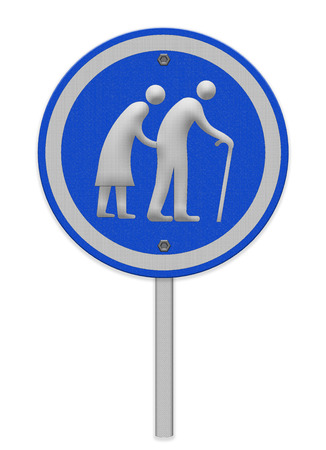 Elderly people sign photo