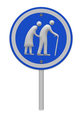 elderly people: Elderly people sign