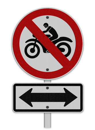 superbike: No motorcycle sign, isolated no bikes allowed prohibition zone warning signage, superbike silhouette