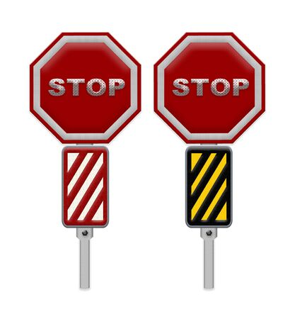 motorist: traffic sign stop, Part of a series. Stock Photo