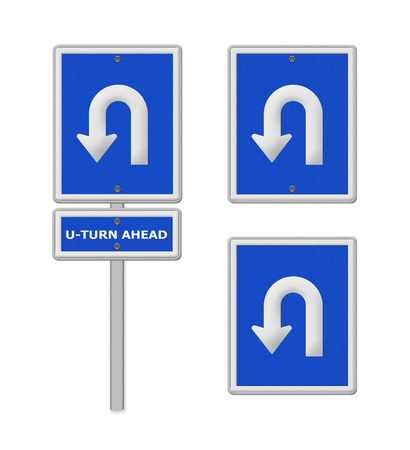 uturn: U-Turn Roadsign ,part of a series.