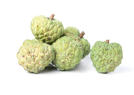 Custard apple isolate on white background photo