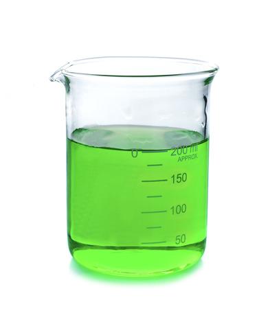 heterogeneous: Beaker on white background