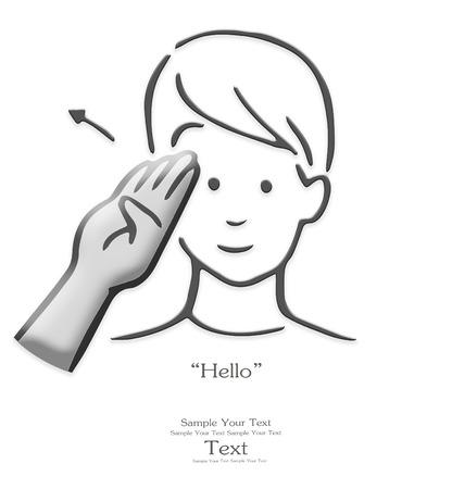 sign language: sign language, finger alphabet, part of a series.