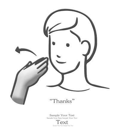 sign language: Thanks sign language