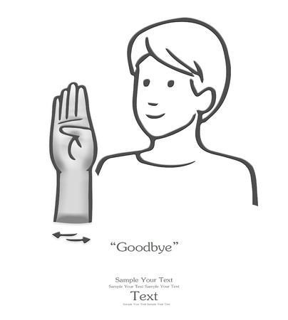 ok sign language: Goodbye sign language